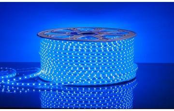 100 м, Лента светодиодная 220V 4,4W 60Led 3528 IP65 синий