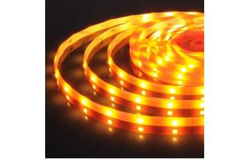 5м, Светодиодная лента 12V 30Led 7,2W IP65 оранжевый 5050