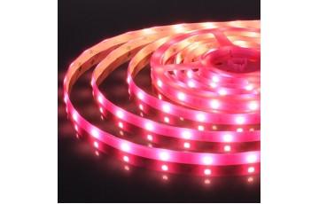 5м, Светодиодная лента 12V 30Led 7,2W IP65 розовый 5050