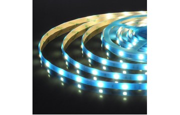 5м, Светодиодная лента 12V 30Led 7,2W IP65 синий 5050