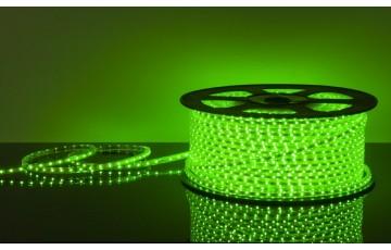 100м, Лента светодиодная 220V 4,4W, зеленый, IP65 60Led 3528