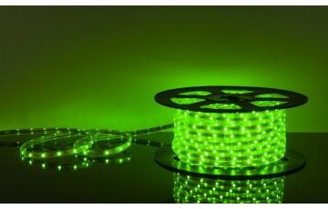 50 м, Лента светодиодная 220V 7,2W IP65 зеленый, 5050 30Led