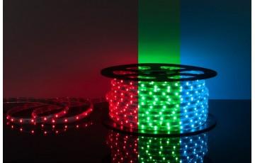 50 м, Лента светодиодная 220V 7,2W  IP65 RGB, 5050 30Led