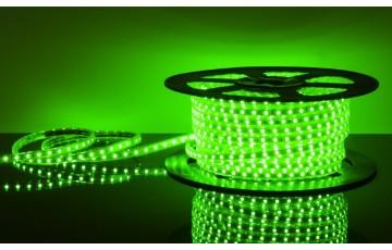 50 м, Лента светодиодная 220V 14,4W IP65 зеленый, 5050 60Led