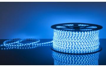 Лента светодиодная 220V 14,4W 60Led 5050 IP65 синий, 50 м