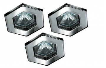 Встраиваемый светильник (в комплекте 3 шт.) Paulmann Hexa 99591