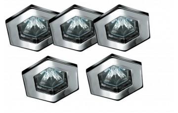 Встраиваемый светильник (в комплекте 5 шт.) Paulmann Hexa 99595