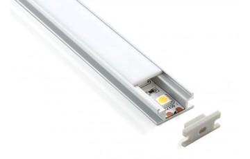 LL-2-ALP002 Встраиваемый напольный алюминиевый профиль для LED ленты (8mm)